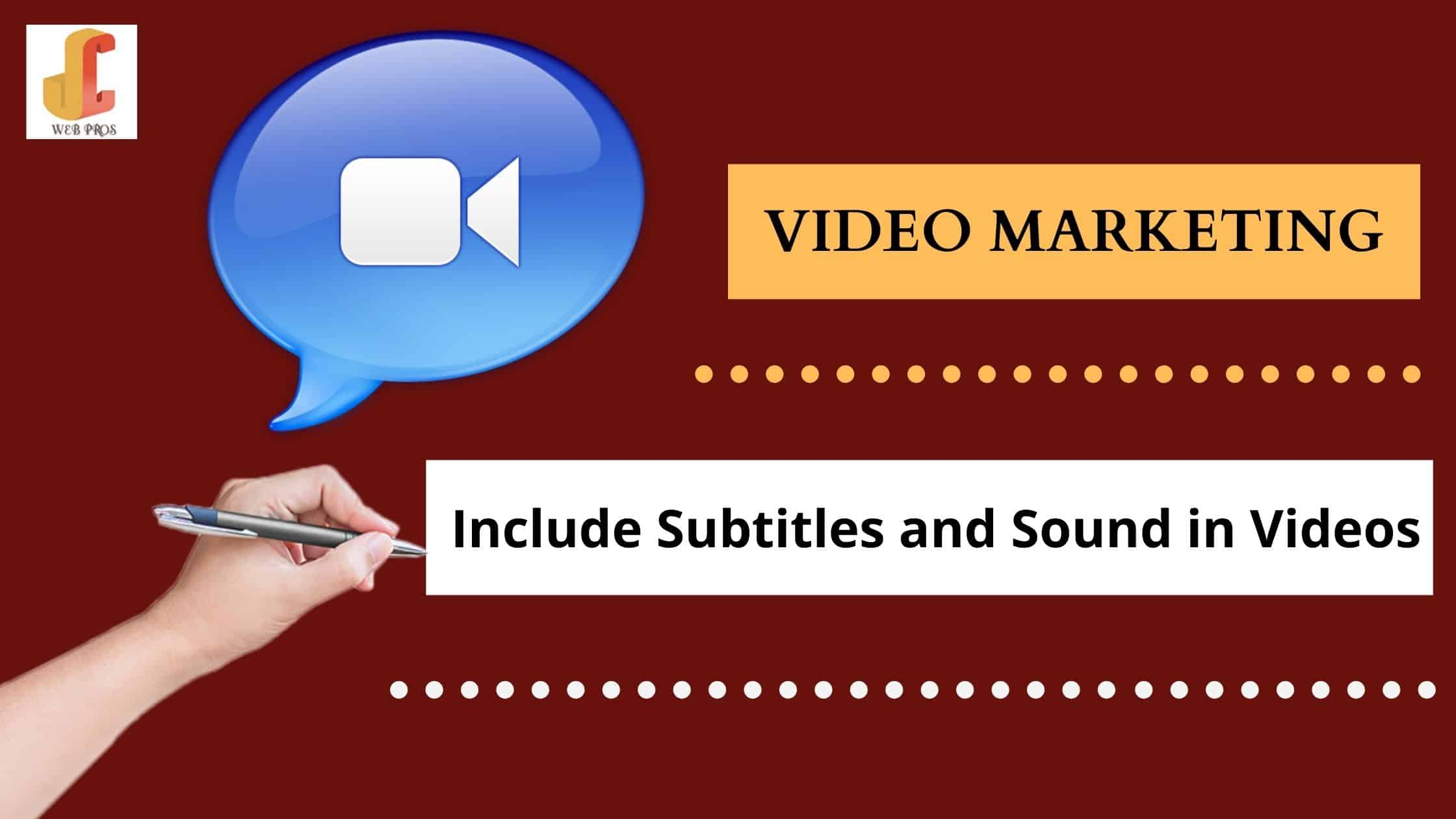 Include Subtitles & Sound in Your Video