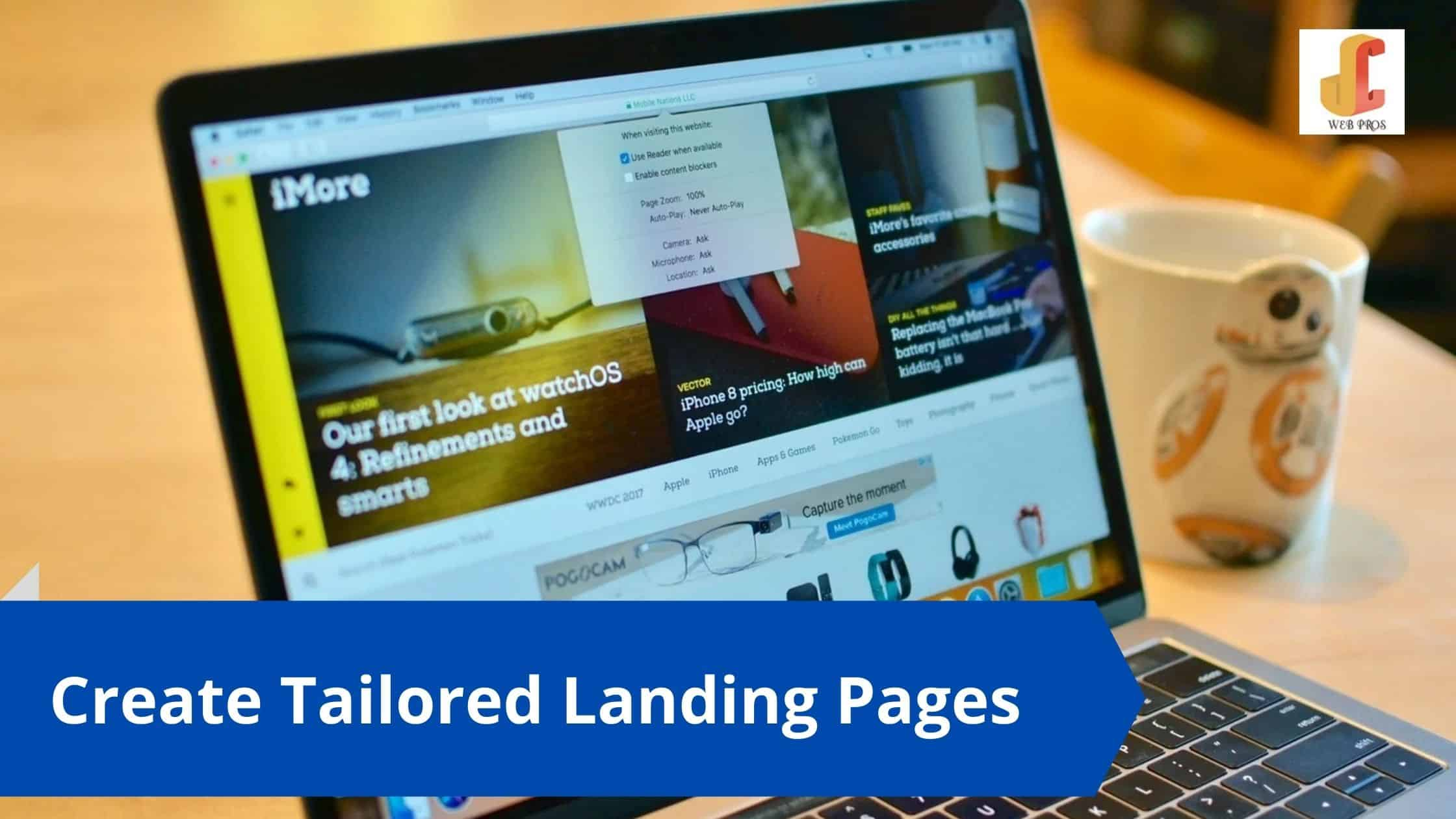 Create Tailored Landing Pages
